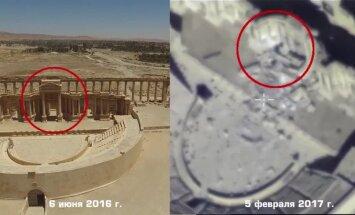 Video: Džihādistu kārtējie posta darbi senajā Palmīrā
