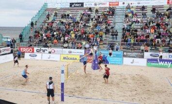 'Jūrmala Masters' pludmales volejbola turnīrs: pusfināla un fināla spēles (teksta tiešraide)