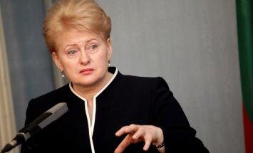 Grībauskaite: Rietumiem jāpaplašina sankcijas pret Krieviju saistībā ar situāciju Ukrainas austrumos