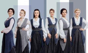 'Latvian Voices' rada 'Piekūns skrien debesīs' a cappella versiju