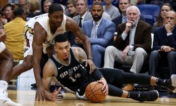 Dāvis Bertāns iemet trīs soda metienus 'Spurs' zaudējumā Ņūorleānā
