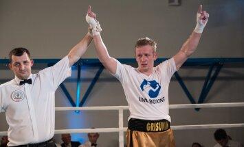 Grišuņins turpina savu uzvaru sēriju profesionālajā boksā