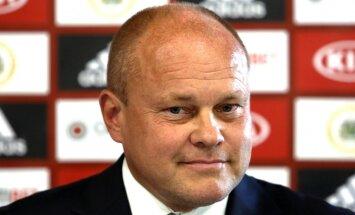 Latvijas futbola izlases jaunais treneris Pātelainens apmierināts ar pirmo valstsvienības treniņu