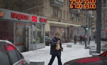 Rubļa kurss turpina gāzties; eiro pārsniedzis jau 80 rubļu robežu