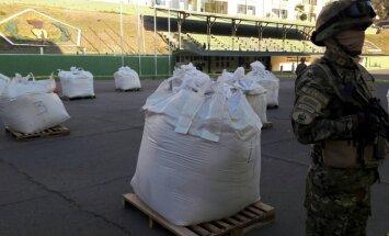Bolīvijas policija konfiscē septiņas tonnas kokaīna