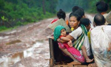 Laosā pēc HES dambja sagrūšanas patversmēs izmitināti 10 000 cilvēku