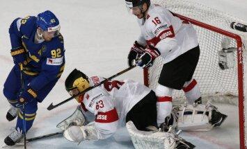 Video: Zviedrijas izlase uzvar Šveici un piesakās cīņai par čempionāta medaļām