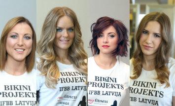 Foto: 'Miss Bikini Fitness' dalībnieces piedzīvojušas krasas stila pārvērtības
