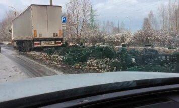 Lasītāja video: 'Ak vai, aliņš' jeb Rīgā avarējusi fūre