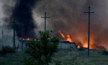 Kaujās pie robežkontroles punkta cietuši pieci ukraiņu robežsargi