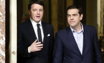 Ir iespējams panākt vienošanos starp Grieķiju un ES, norāda Itālijas premjers