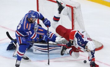 CSKA Gagarina kausa konferences fināla pirmajā spēlē pārspēj Znaroka trenēto SKA