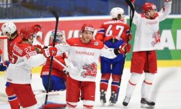 Dānija izcīna pirmo uzvaru šajā pasaules čempionātā