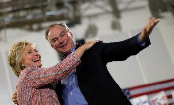 Klintone par demokrātu viceprezidenta amata kandidātu izraugās senatoru Timu Keinu