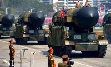 Ziemeļkoreja varētu būt saražojusi līdz pat 60 kodolieroču, lēš Dienvidkoreja