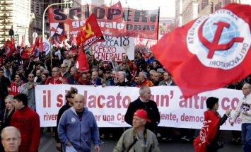 Foto: Romā vairāk nekā miljons cilvēku protestē pret valdīb