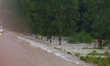 Latgalē applūdis vēl viens valsts vietējās nozīmes autoceļš