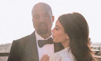 Kima Kardašjana publicē līdz šim neredzētu kāzu foto