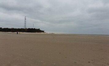 Jūra turpina atkāpties; Kolkas rags kļuvis neierasti liels