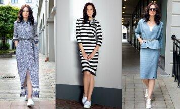 Foto: Latvijā ražoto apģērbu zīmola 'Vaide' pavasara/vasaras kolekcija