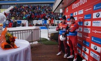 Nāciju kausā Lillehammerē godalgas Kivleniekam un Gudramovičam/Kalniņam