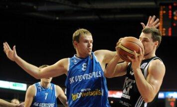 'Ventspils' komanda LBL spēlē piekāpjas 'Jēkabpils' basketbolistiem