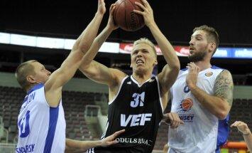 Foto: 'VEF Rīga' neizmanto iespējas un piedzīvo trešo zaudējumu pēc kārtas