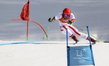 XXIII Ziemas olimpisko spēļu rezultāti kalnu slēpošanā vīriešiem milzu slaloma disciplīnā (18.02.2018.)