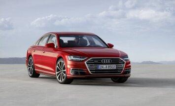 'Audi' prezentējis jauno 'A8' limuzīnu ar inovatīvām tehnoloģijām