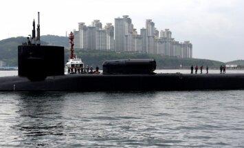 Ziemeļkorejas spriedze: Korejas pussalā ierodas ASV atomzemūdene ar 'Tomahawk' raķetēm