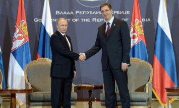 Serbija nekad nenoteiks sankcijas pret Krieviju, paziņo premjerministrs