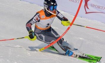 Gasūnai 33. vieta Eiropas kausa slalomā Norvēģijas posmā