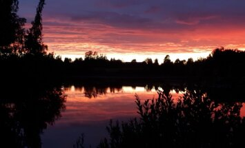 Foto: Romantisks vakars pie Druvienas dīķa