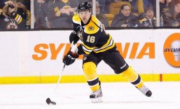 Daugaviņš debijas mačā 'Bruins' rindās varētu spēlēt vienā maiņā ar Jāgru