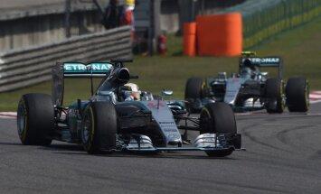 Pasaules čempions Hamiltons uzvar F-1 Ķīnas posmā
