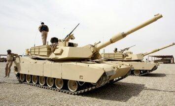 ASV uz Latviju nosūta tankus 'Abrams' un bruņumašīnas 'Bradley'