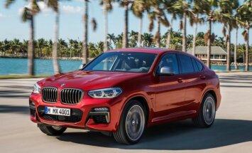 BMW parādījis jauno 'X4' apvidus auto