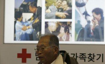 Ziemeļkoreja atliek ģimeņu atkalapvienošanos