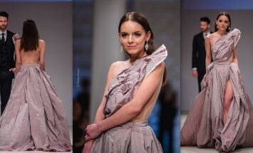 Īsti dimanti un zelts: lietuviešu dizainers rada kāzu kleitu 100 tūkstošu eiro vērtībā