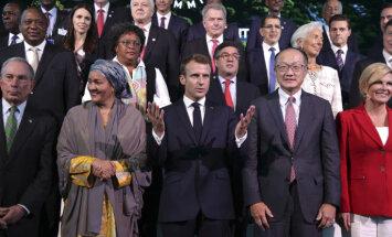 Zaļmaldināšana un neesošā planēta B: Makrons Ņujorkā vada klimata pārmaiņu samitu