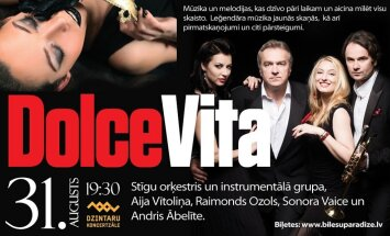 Dzintaru koncertzālē norisināsies koncerts 'Dolce Vita'