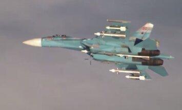 Video: Krievijas Su-27 virs Baltijas jūras seko NATO novērošanas lidmašīnai