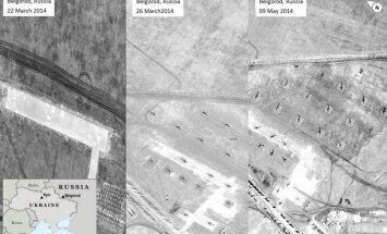 ASV publisko satelītuzņēmumus ar Krievijas armiju pie Ukrainas robežas