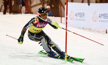Gasūna pirmo reizi iekļūst Eiropas kausa divdesmitniekā slalomā
