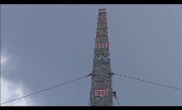 Video: Ungārijā uzbūvē 36 metrus augstu 'Lego' torni