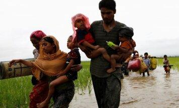 Mjanmā rohindžu izraisītā vardarbībā simtiem bojāgājušo