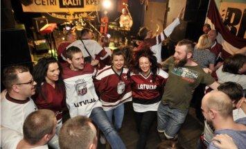 Latvijas hokeja faniem arī Maskavā būs tradicionālais klubiņš 'Baltie krekli'