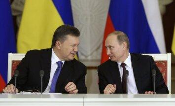 Janukovičs un Putins vienojas - Krievija samazina gāzes cenu Ukrainai