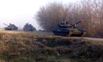 Ukrainas pierobežā ieradušās elitāras Krievijas tanku divīzijas