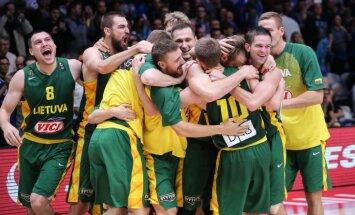Lietuva ar dramatisku uzvaru pār serbiem iekļūst 'Eurobasket 2015' finālā